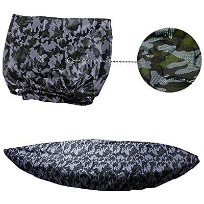 MAYMII Universal Professional Waterproof Sunblock Storage Dust Cover Shield For (2.7-3M / 8.8-9.8ft ),(3.7-4M / 12.1-13.1ft) 2 Size Range Kayak / Canoe (For 12.1-13.2ft kayak)