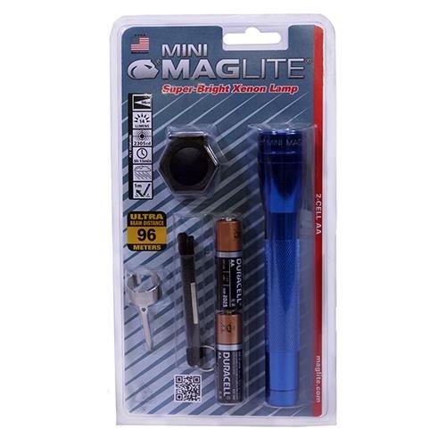 MAGLITE Mini-Mag Flashlight Aa Combo Pack Blister Pack, Blue