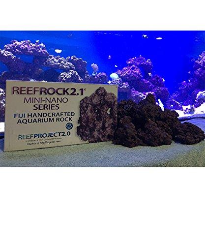 Fiji Live Rock - Walt Smith 2.1 Nano Reef Rock For Saltwater Nano Aquariums! Pest Free! (Appx. 11lbs)