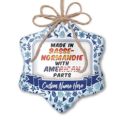 (NEONBLOND Custom Tree Ornament American Parts but Made in Basse-Normandie with Your Name)