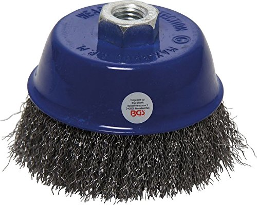 BGS 3994 Wire Cup Brush, Grey/Black, 100 mm Size M14 x 2 BGS technic KG