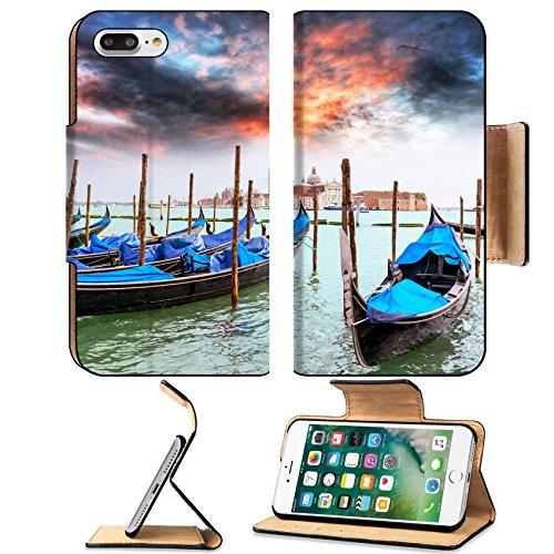 Luxlady Premium Apple iPhone 7 Plus Flip Pu Leather Wallet Case iPhone7 Plus 43438372 Moored (Gondola Rock)