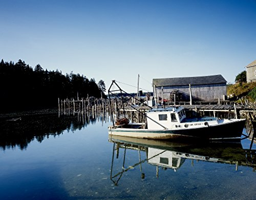 Lone Lobster (16 x 24 Art Canvas Wrapped Frame Giclee Print of Lone lobster boat Eastport Maine [bet Highsmith 88a)