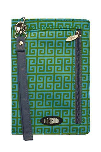 Big Skinny Women's Plus Myphone Bi Fold Slim Key Lime Wallet Wristlet, Green, One Size