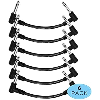 Amazon Com Donner Guitar Patch Cable 3 Pack 30cm 1 4 Inch