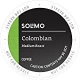 Amazon Brand - 100 Ct. Solimo Medium Roast Coffee K-Cup Pods, Colombian, Compatible with 2.0 K-Cup Brewers