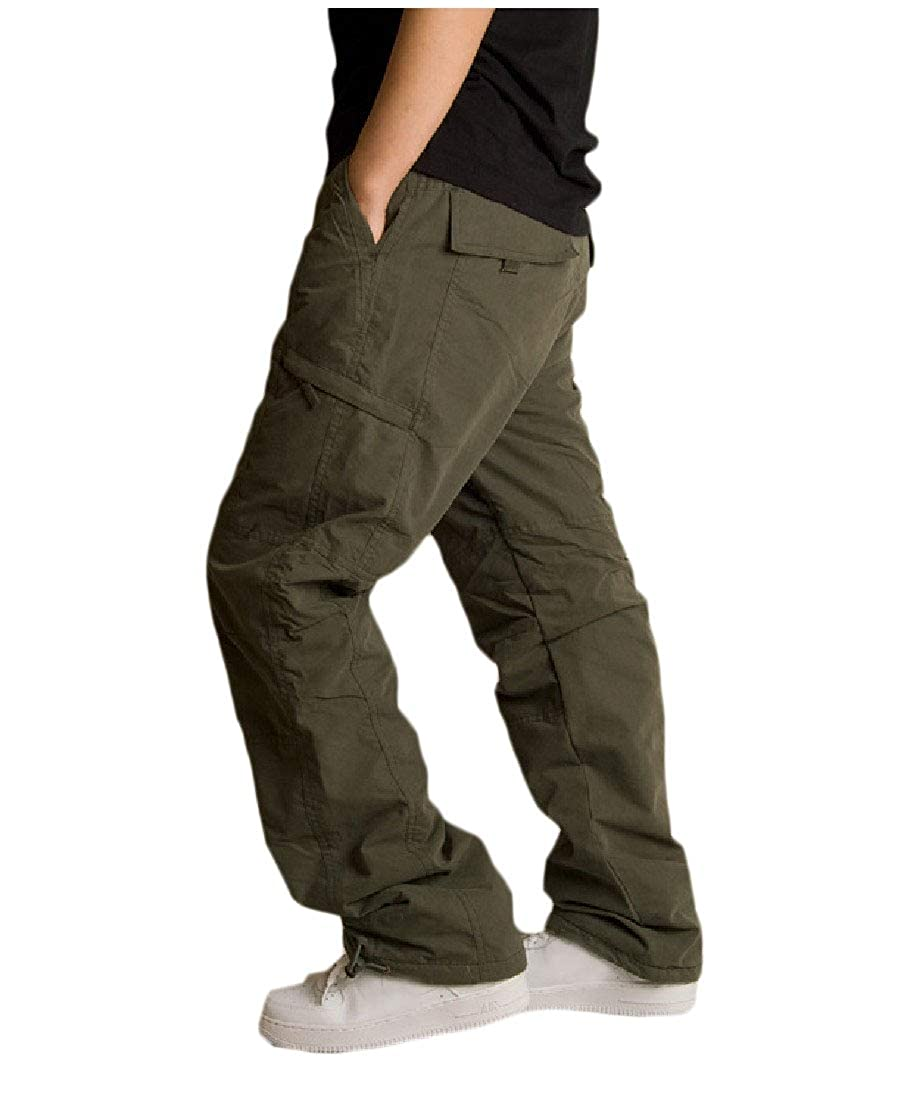 YUNY Men Plus-Size Leisure Thicken Multi-Pocket Sport Cargo Pants AS1 L