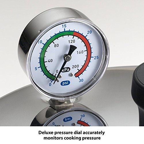 T-fal Pressure Cooker, Pressure Canner with Pressure Control, 3 PSI Settings, 22 Quart, Silver by T-fal (Image #4)