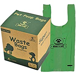 Wagz4Life 360 Biodegradable Dog Poop Bags, Leak-Proof, Easy-Tie Handles, Scented Waste Bags - Masks Unpleasant Odors! Made with 30% Cornstarch