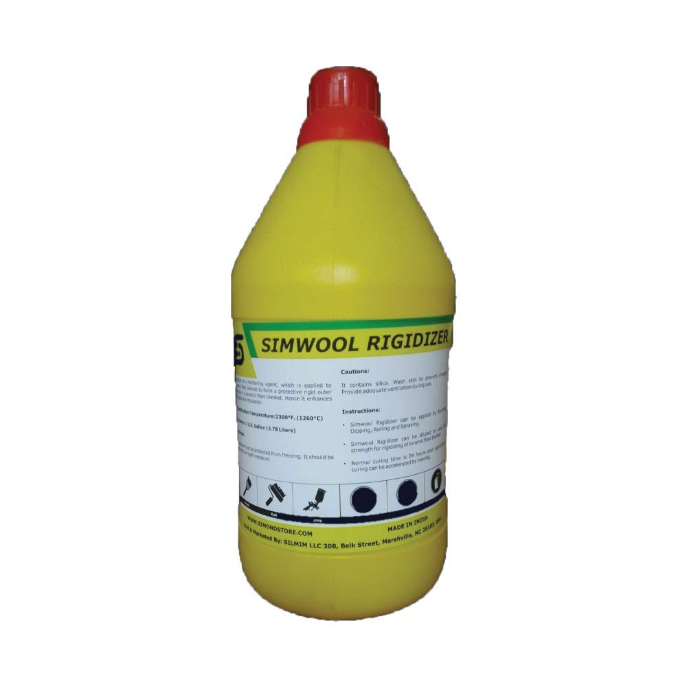 Simwool Rigidizer - Coating for Ceramic Fiber Blanket - 1 Gallon by Unknown (Image #1)