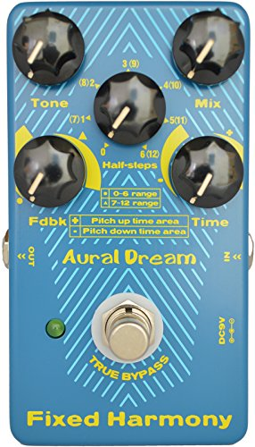 Aural Dream Fixed Harmony Digital Guitar Pedal with double sound Harmony effect and Shifting semitones or Octaves effects,True Bypass by Aural Dream