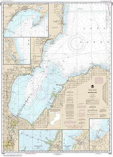 NOAA Chart 14863 Saginaw Bay;Port Austin Harbor;Caseville Harbor;Entrance to Au Sable River;Sebewaing Harbor;Tawas Harbor: 46.9
