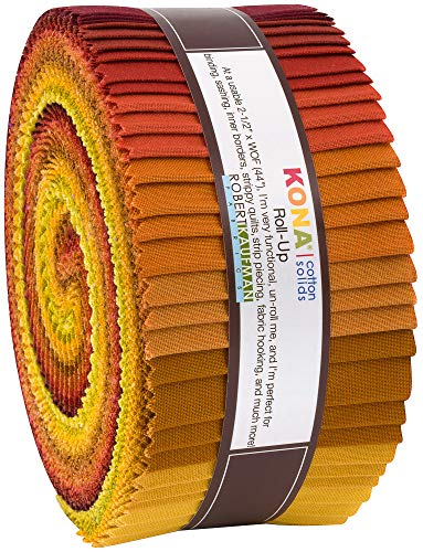 Robert Kaufman Kona Cotton Solids Autumn Hues Roll Up 2.5