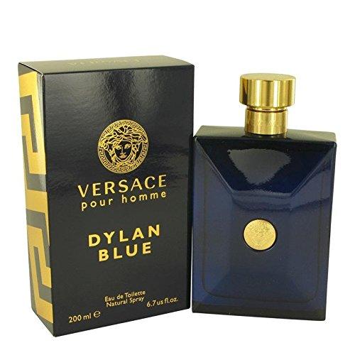VERSACE Dylan Blue Pour Homme Eau De Toilette Spray Box Sealed, 6.7 - Men Blue Versace