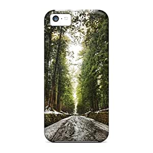 (STngdeE318WCBjR)durable Protection Case Cover For Iphone 5c(old Forest After The Snowmelt Premium Photographic)