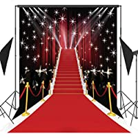 5x7ft Stage Lighting Red Carpet Photography Backdrop Vinyl Pictorial Cloth Photo Video Studio Props Customized Background AA-035