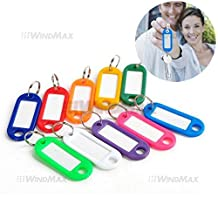 Ship From CA,USA Brand New 100 Pcs Colorful Key ID Label Tags Key Ring Holder Tags Key Chain by WindMax?
