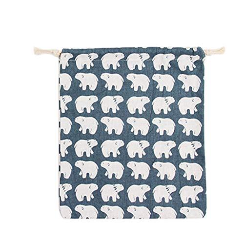 Bolsa regalo algodón bolsas viajes regalo pequeño de Misceláneas de de cordón de de viaje tamaño lino de algodón Bolsa Bolsa bolsa para de pequeñas lindo de impresa lino de caramelos de 58qax7nSFw