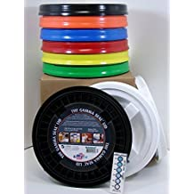 Gamma Seal Lid, Assorted Colors, 9 Pack - New! - Boxed! - 5 Gallon Bucket Lids (Fits 3.5, 5, 6, & 7 Gal.) Storage Container Lid by Gamma