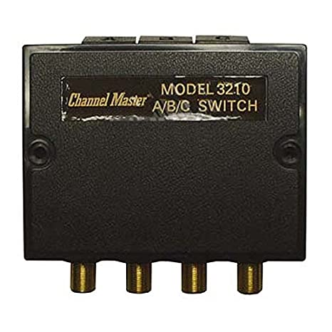 Coaxial A/B/C Switch 3-75 Ohm Inputs 80 dB High Isolation