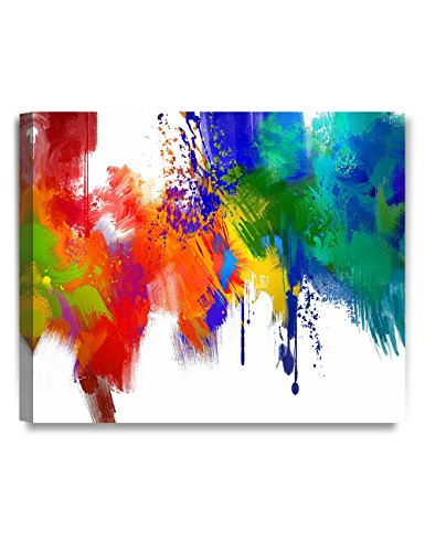 DecorArts - Colorful paint Abstract Wall Art, Giclee Prints abstract modern canvas wall art for Home Decor and Wall Decor. 24x20