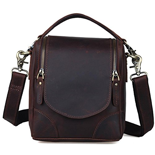 Skin Bag Single Horse Cowhide Penao Bag Tote Man Crazy Vintage Leather 21cmx14cmx21cm Camera Shoulder HPxtwXgq8w