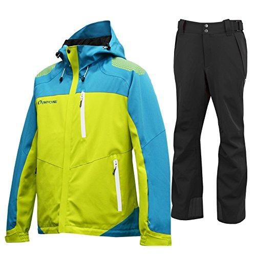 ONYONE(オンヨネ)スキージャケット&パンツ 上下セット 315009(LIMExBLACK) ONJ99350-99310 B07BRBYDKP Medium|315009 315009 Medium