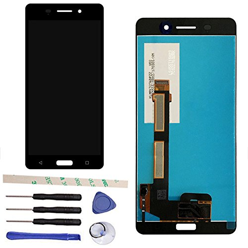 Nokia Touch Screen - Black LCD Display Touch Screen Digitizer Assembly Replacement For Nokia 6 2017 N6 TA-1000 TA-1003 TA-1033 TA-1025 IPS 5.5''