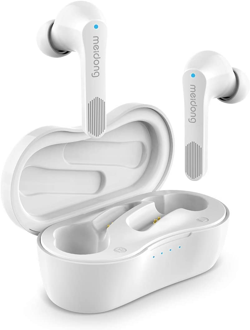 Wireless Earbuds, Meidong Bluetooth Earbuds Headphones V5.0 KY06 in-Ear Earphones with Premium Sound and Deep Bass Smart Touch Control Built-in Mic Waterproof IPX6 Rchargeable Charging Case