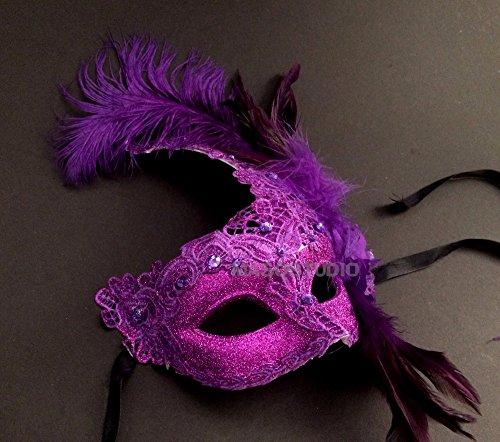 MASQSTUDIO Brocade Lace Masquerade Ball Mask Christmas New Year Eve Mardi Gras Party -