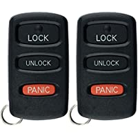 KeylessOption Keyless Entry Remote Car Key Fob Replacement for HYQ12ABA (Pack of 2)