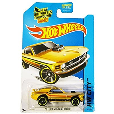 Hot Wheels, 2014 HW City, '70 Ford Mustang Mach 1 [Yellow] Die-Cast Vehicle #97/250: Toys & Games