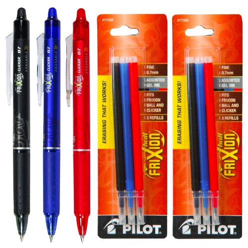Pilot FriXion Retractable Eraseable Assorted