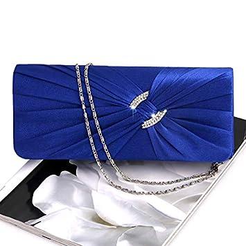 450f16c2ac JAGENIE sera borsetta borsa da donna con strass catena spalla pochette da  sposa, Satin, Royal Blue, 25.8 x 15.7 x 5.3cm: Amazon.it: Casa e cucina