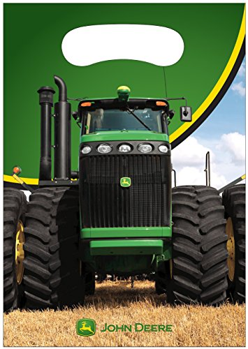 John Deere Loot Bags 8 count 6.5 X 9 in by John Deere