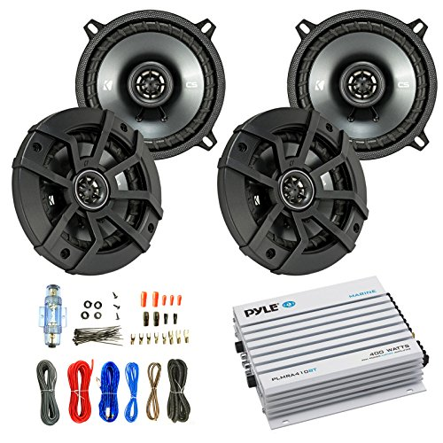 Car Speaker And Amp Combo: 4x Kicker 43CSC5 450-Watt 5-1/4