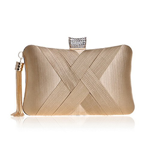 Evening Metal Day Tassel Classical Bag Small Clutch Bags Chain Purse Lady Shoulder Handbags With Clutch Style Ym1185gold FpCFrqw