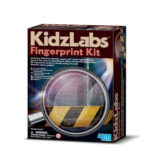 4M Clues! Crimes! Police! with This Detective Science Fingerprint Kit Detective Science Fingerprint Kit Kidz Labs for Ages 7+