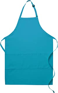 product image for DayStar Apparel Three Pocket Butcher Apron - Style 223 (1, Turquoise)
