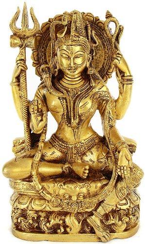 All is Nothing But Shiva and Parvati (Ardhanarishvara) - Brass Statue