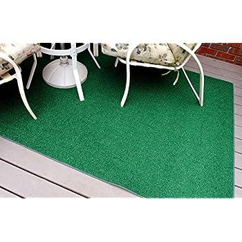 Amazon.com : Indoor/Outdoor Black Top Artificial Grass Turf Area ...
