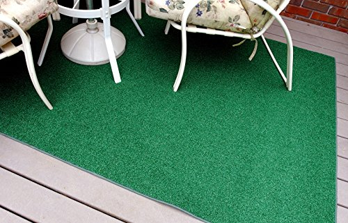 Garland Rug 6' x 9' Artificial Grass Indoor/Outdoor Area Rug, Rectangle, Green