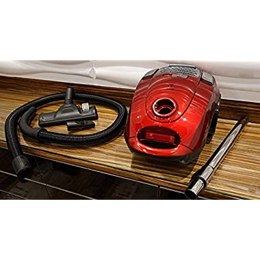 American Micronic- AMI-VCC-2200WDx-2200 Watts Imported Vacuum Cleaner with HEPA Filter and 100% Copper Motor 32KPa Suction (Red) 14