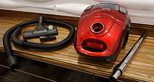 American Micronic- AMI-VCC-2200WDx-2200 Watts Imported Vacuum Cleaner with HEPA Filter and 100% Copper Motor 32KPa Suction (Red) 7