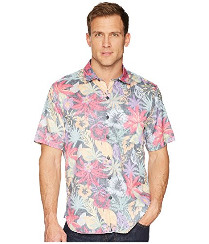 Tommy Bahama Fuego Flora Camp Shirt (Color: Black, Size XL) (Tommy Bahama Lyocell Shirts)