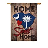 State South Carolina Home Sweet Home – Americana States Decoration – 28″ x 40″ Impressions House Flag by Ornament Collection – US made Review