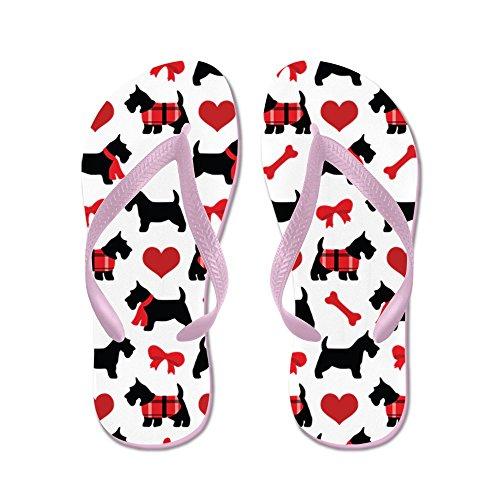 CafePress Scottie Dog Lover - Flip Flops, Funny Thong Sandals, Beach Sandals Pink