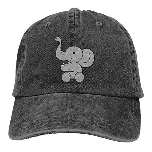 DoHsble Baby Elephant Baseball Cap Adjustable Strapback Unisex Cotton Black