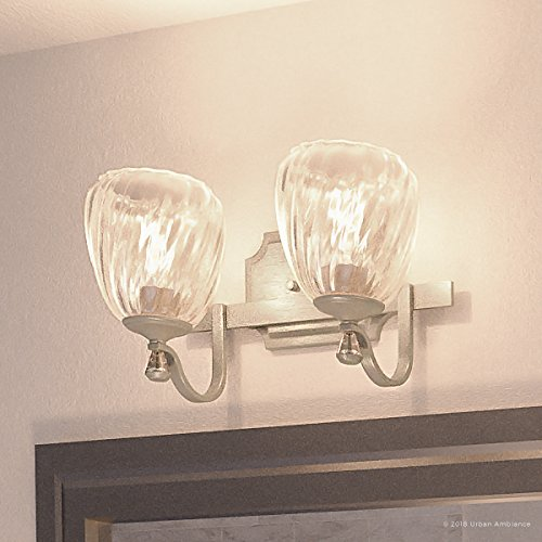 (Luxury Crystal Bathroom Vanity Light, Medium Size: 7.5