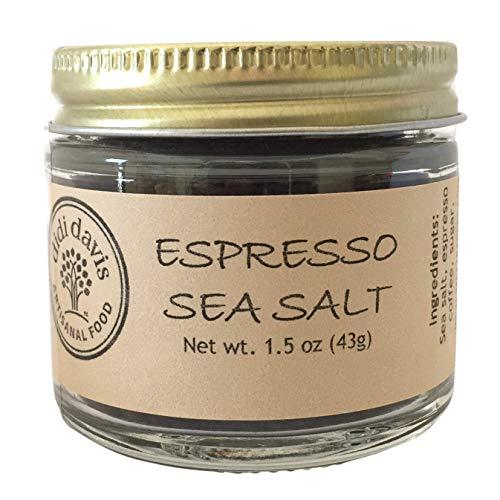 (didi davis food (Salt Traders) Espresso Flavored Sea Salt - 1.5 oz Net Wt. (Glass Jar))